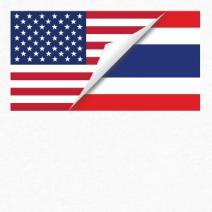 Half American Half Thai Flag - Men's V-Neck T-Shirt by Canvas