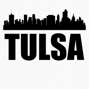 Tulsa OK Skyline - Men's V-Neck T-Shirt by Canvas