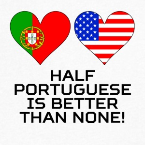 Half Portuguese Is Better Than None - Men's V-Neck T-Shirt by Canvas