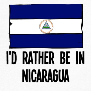 I'd Rather Be In Nicaragua - Men's V-Neck T-Shirt by Canvas