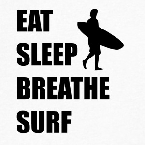 Eat Sleep Breathe Surf - Men's V-Neck T-Shirt by Canvas