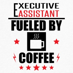 Executive Assistant Fueled By Coffee - Men's V-Neck T-Shirt by Canvas