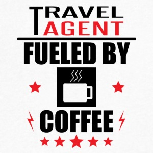 Travel Agent Fueled By Coffee - Men's V-Neck T-Shirt by Canvas