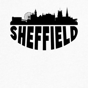 Sheffield England Cityscape Skyline - Men's V-Neck T-Shirt by Canvas