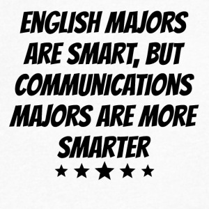 Communications Majors Are More Smarter - Men's V-Neck T-Shirt by Canvas