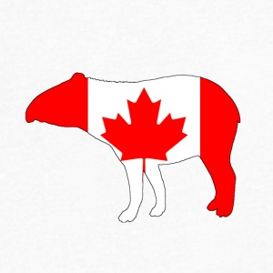 Canada Flag - Tapir - Men's V-Neck T-Shirt by Canvas