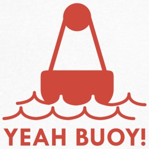 Yeah Buoy! - Men's V-Neck T-Shirt by Canvas
