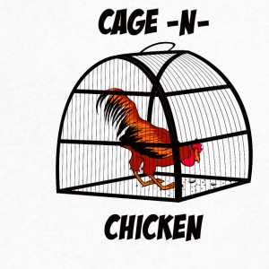 cage-n-chicken - Men's V-Neck T-Shirt by Canvas