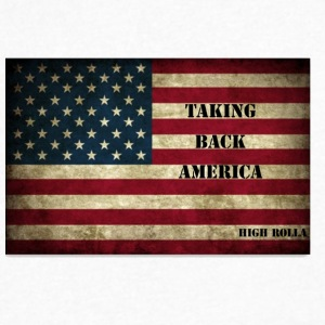 taking back America - Men's V-Neck T-Shirt by Canvas