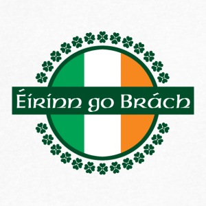 Eirinn go Brach translates to Ireland Forever! - Men's V-Neck T-Shirt by Canvas