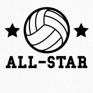 Volleyball All Star - Men's V-Neck T-Shirt by Canvas