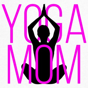 Yoga Mom - Men's V-Neck T-Shirt by Canvas