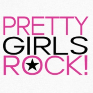 Pretty girls rock shirts - Men's V-Neck T-Shirt by Canvas
