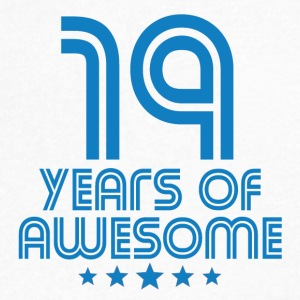 19 Years Of Awesome 19th Birthday - Men's V-Neck T-Shirt by Canvas