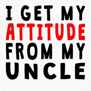 I Get My Attitude From My Uncle - Men's V-Neck T-Shirt by Canvas