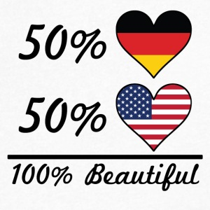 50% German 50% American 100% Beautiful - Men's V-Neck T-Shirt by Canvas