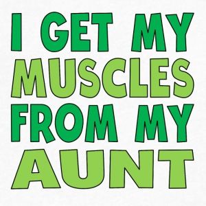 I Get My Muscles From My Aunt - Men's V-Neck T-Shirt by Canvas