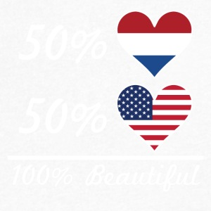 50% Dutch 50% American 100% Beautiful - Men's V-Neck T-Shirt by Canvas