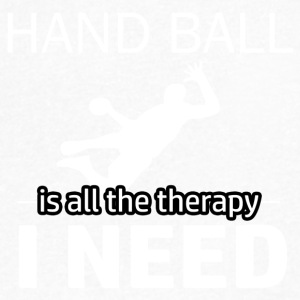Handball is my therapy - Men's V-Neck T-Shirt by Canvas