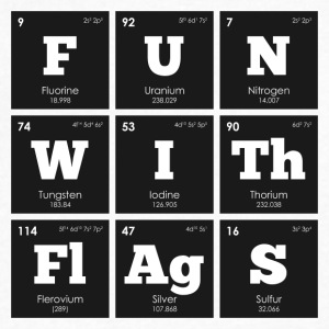 Periodic Elements: Sheldon's FUN WITh FlAgS - Men's V-Neck T-Shirt by Canvas