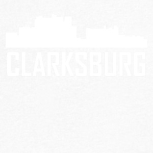 Clarksburg West Virginia City Skyline - Men's V-Neck T-Shirt by Canvas