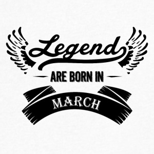 Legends are born in March - Men's V-Neck T-Shirt by Canvas