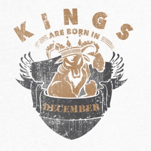 Kings are born in December - Men's V-Neck T-Shirt by Canvas