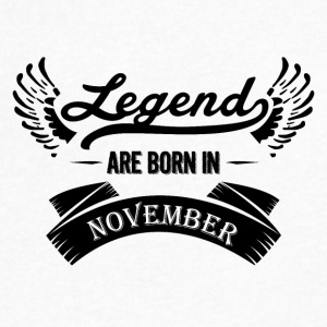 Legends are born in November - Men's V-Neck T-Shirt by Canvas