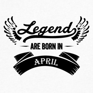 Legends are born in April - Men's V-Neck T-Shirt by Canvas