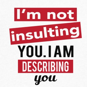 I'm not insulting you. I am describing you - Men's V-Neck T-Shirt by Canvas
