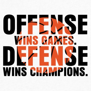 offense wins games - Men's V-Neck T-Shirt by Canvas