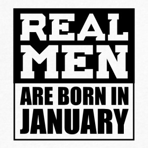 Real Men are Born in January - Men's V-Neck T-Shirt by Canvas