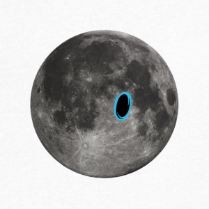 Portal on the Moon - Men's V-Neck T-Shirt by Canvas