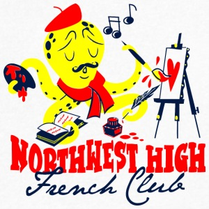 Northwest High French Club - Men's V-Neck T-Shirt by Canvas
