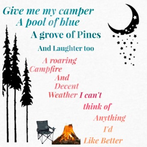 IMG 3007 camping give me my Cabin shirt , teeshirt - Men's V-Neck T-Shirt by Canvas