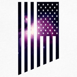 Galaxy USA The American Flag with a purple outer - Men's V-Neck T-Shirt by Canvas