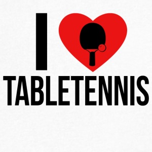 I LOVE TABLETENNIS BLACK - Men's V-Neck T-Shirt by Canvas