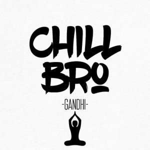 Chill Bro - Men's V-Neck T-Shirt by Canvas
