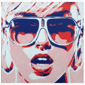 Pop Art Girl - Limited Edition - Men's V-Neck T-Shirt by Canvas