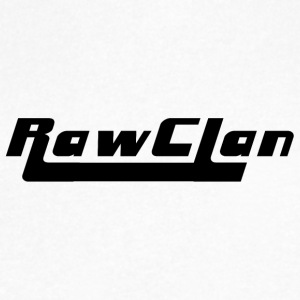 Raw Clan-Black - Men's V-Neck T-Shirt by Canvas