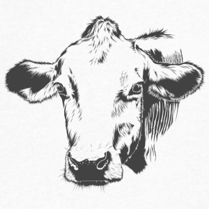 Gorgeous Cow - Men's V-Neck T-Shirt by Canvas