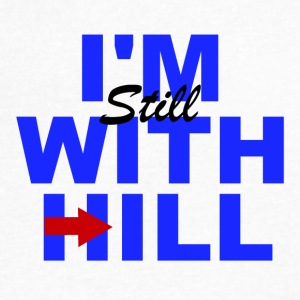 Hillary_-I'm_Still_with_Hill - Men's V-Neck T-Shirt by Canvas
