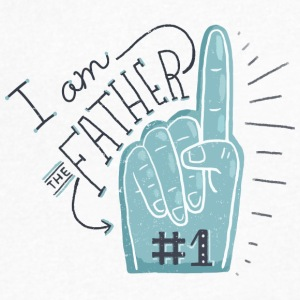 I am the father #1 - Men's V-Neck T-Shirt by Canvas