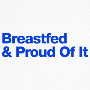 Breastfed And Proud Of It - Uppercase Design (Blu) - Men's V-Neck T-Shirt by Canvas