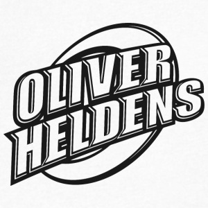 Oliver Heldens logo | Black - Men's V-Neck T-Shirt by Canvas