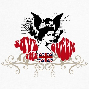 SAVE THE QUEEN - Men's V-Neck T-Shirt by Canvas