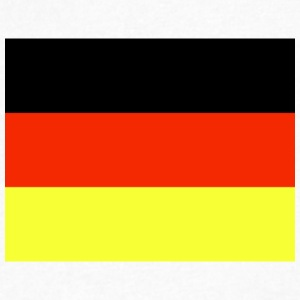 Germany Flag Wallpaper 6 - Men's V-Neck T-Shirt by Canvas
