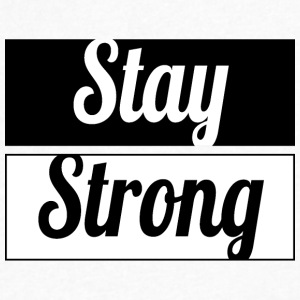 Stay Strong - Men's V-Neck T-Shirt by Canvas