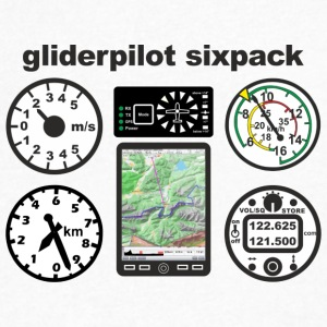 six pack gliderpilot - Men's V-Neck T-Shirt by Canvas