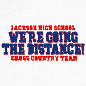 JACKSON HIGH SCHOOL WE RE GOING THE DISTANCE - Men's V-Neck T-Shirt by Canvas